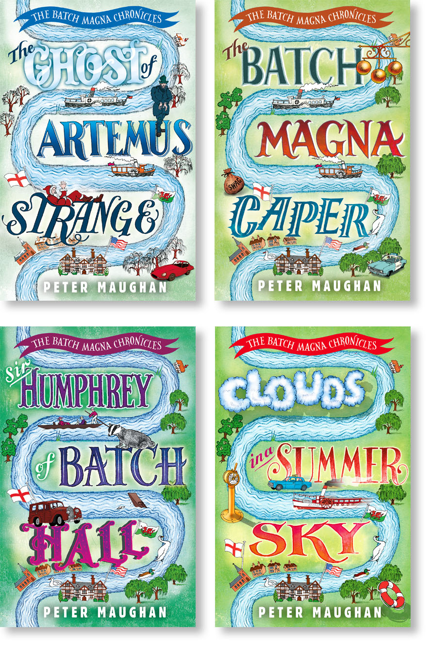 Design/series styling, illustration and hand-lettering. For Farrago Books.